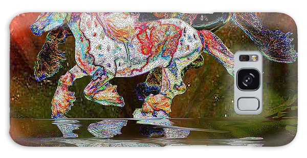 Spirit Horse II Leopard Gypsy Vanner Galaxy Case