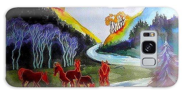 Spirit Horses Galaxy Case