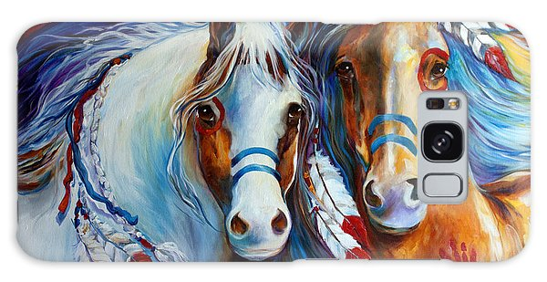Spirit Indian War Horses Commission Galaxy Case by Marcia Baldwin