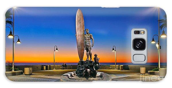 Spirit Of Imperial Beach Surfer Sculpture Galaxy Case