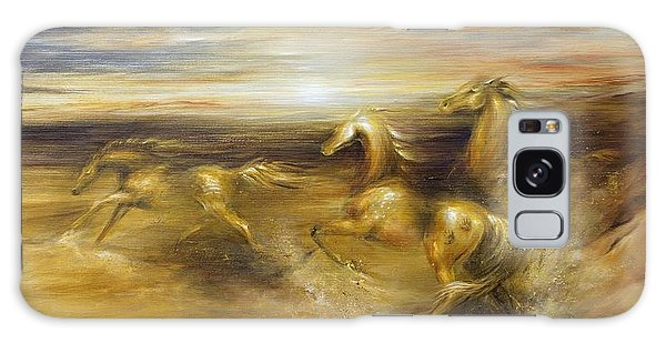 Spirit Of The Warrior Horse Galaxy Case by Dina Dargo