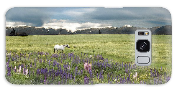 Spirit Pony In High Country Lupine Field Galaxy Case