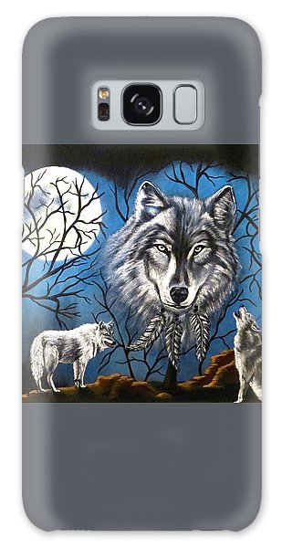 Spirit Wolf Galaxy Case by Teresa Wing