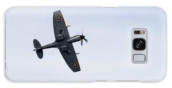 Galaxy Case featuring the photograph Spitfire From Below Sunderland Air Show 2014 by Scott Lyons