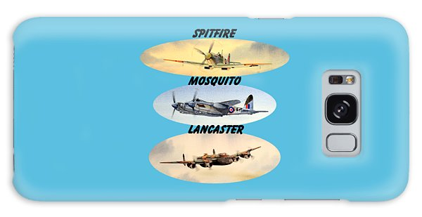 Spitfire Mosquito Lancaster Aircraft With Name Banners Galaxy Case by Bill Holkham