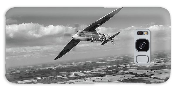 Galaxy Case featuring the photograph Spitfire Tr 9 On A Roll Bw Version by Gary Eason