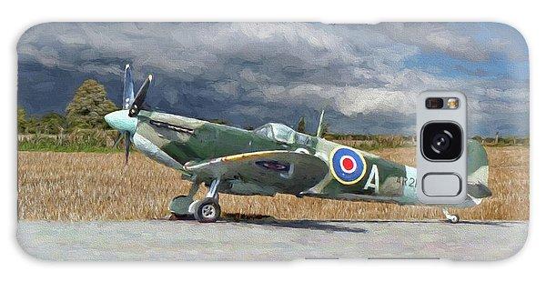 Spitfire Under Storm Clouds Galaxy Case
