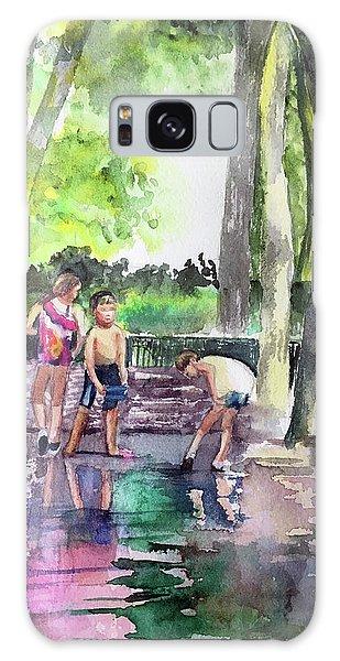 Splash In Battery Park Galaxy Case