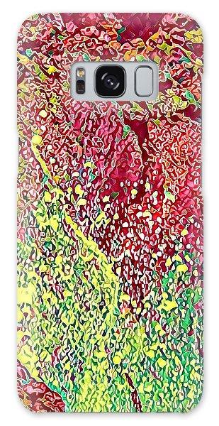 Splash Of Red - Heart Of Pele Galaxy Case