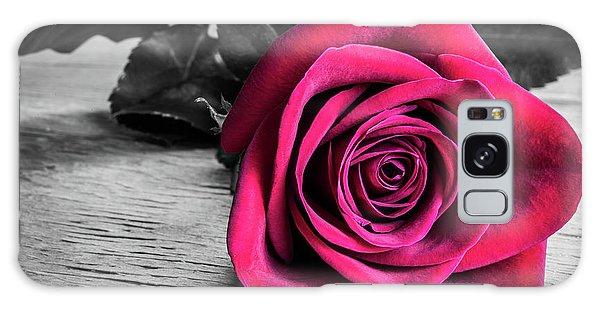 Splash Of Red Rose Galaxy Case
