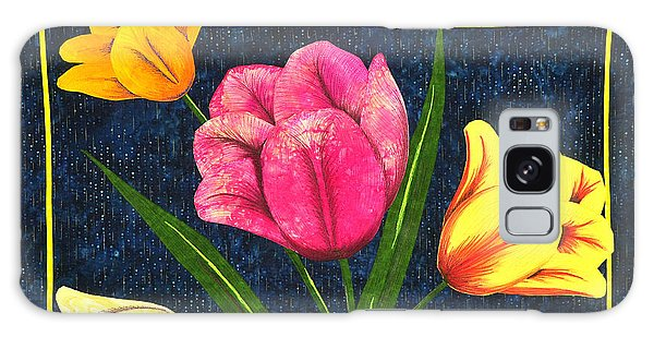 Splash Of Tulips Galaxy Case
