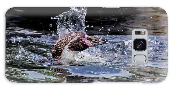 Galaxy Case featuring the photograph Splashing Humboldt Penguin by Scott Lyons