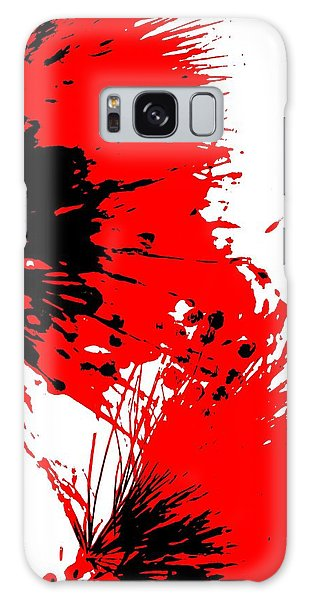Splatter Black White And Red Series Galaxy Case by Betty Northcutt