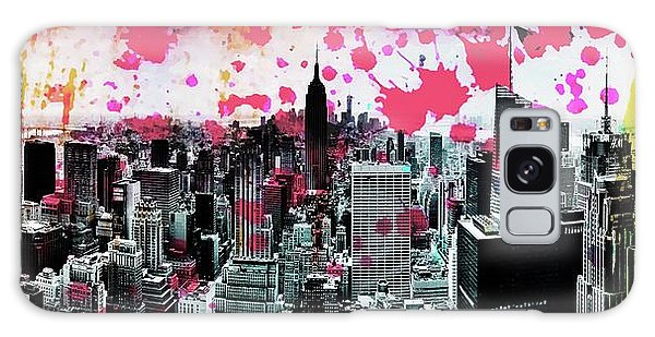 Empire State Building Galaxy S8 Case - Splatter Pop by Az Jackson