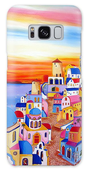 Splendid Santorini Sunset My Way Galaxy Case by Roberto Gagliardi