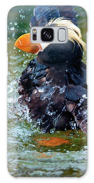 Puffin Galaxy S8 Case - Splish Splash by Mike Dawson