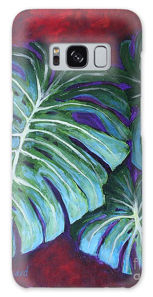 Split Leaf Philodendron Galaxy Case by Phyllis Howard