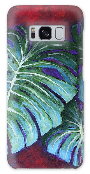 Split Leaf Philodendron Galaxy Case
