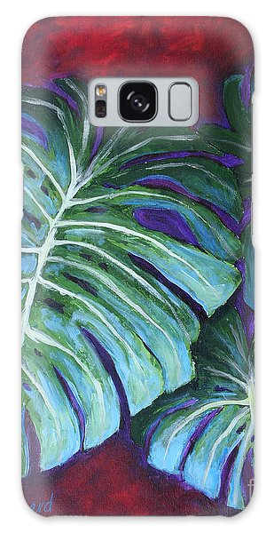 Galaxy Case featuring the painting Split Leaf Philodendron by Phyllis Howard