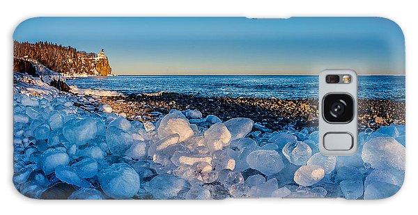 Split Rock Lighthouse With Ice Balls Galaxy Case