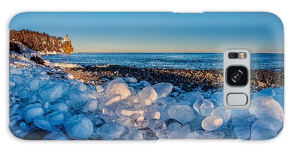 Split Rock Lighthouse With Ice Balls Galaxy Case