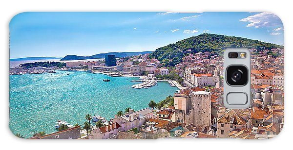 Split Waterfront And Marjan Hill View Galaxy Case by Brch Photography