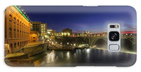 Spokane Falls At Night Galaxy Case