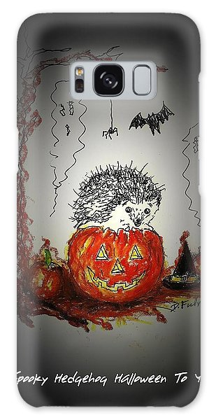 Spooky Hedgehog Halloween Galaxy Case