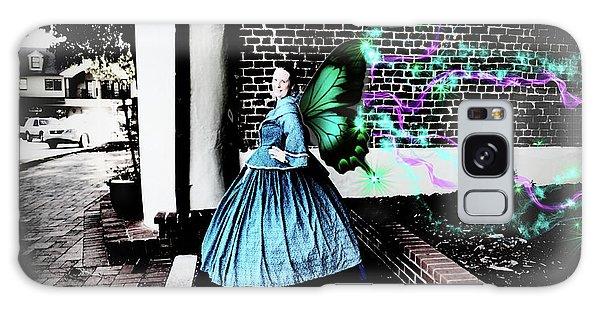 Spooky Historic Butterfly Dahlonega  Galaxy Case