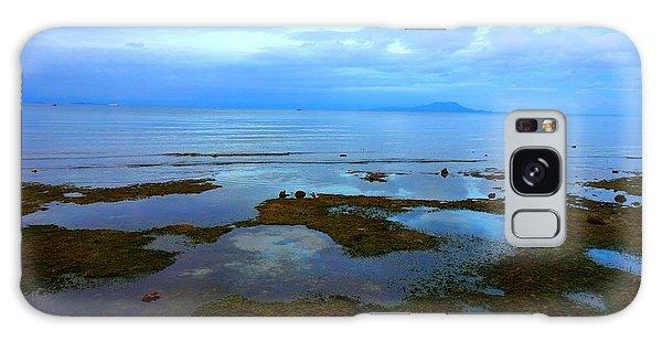 Spooky Morning Tide Receded From Beach Galaxy Case