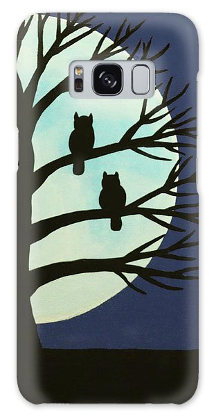 Spooky Owl Tree Galaxy Case