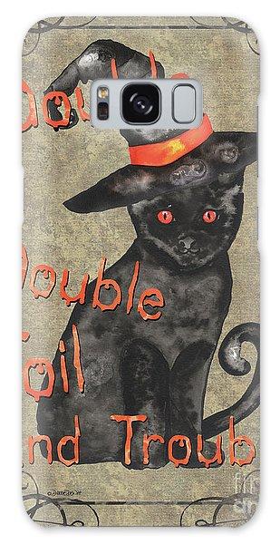 Bat Galaxy S8 Case - Spooky Pumpkin 3 by Debbie DeWitt