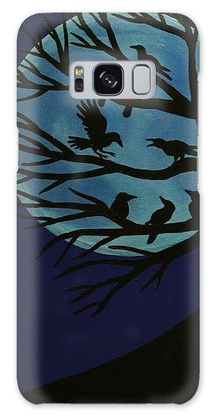 Spooky Raven Tree Galaxy Case