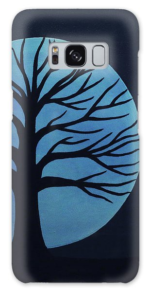 Spooky Tree Blue Galaxy Case