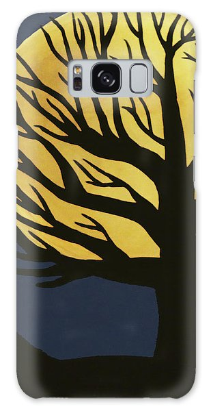 Spooky Tree Yellow Galaxy Case