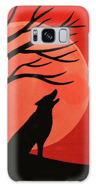 Spooky Wolf Tree Galaxy Case