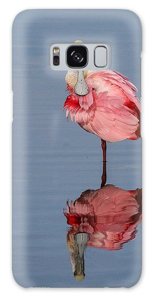 Spoonbill And Reflection Galaxy Case