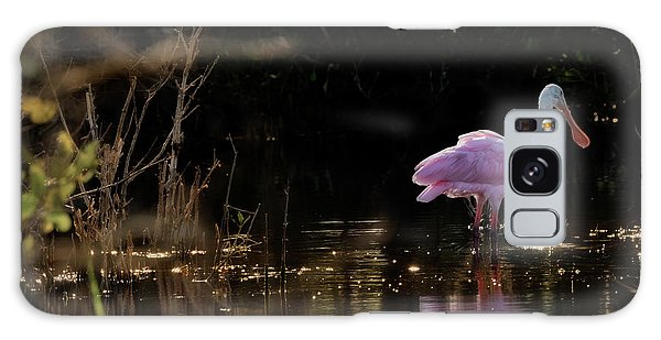 Spoonbill Fishing For Supper Galaxy Case