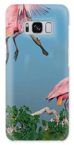 Spoonbills Greeting Galaxy Case