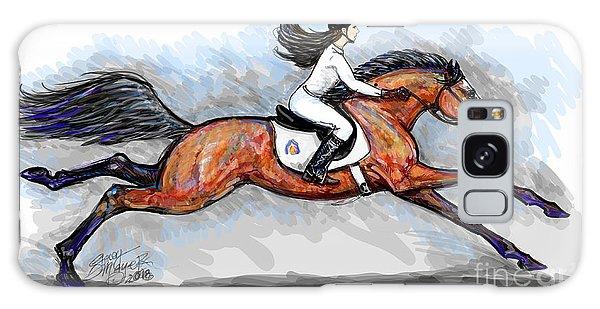 Sport Horse Rider Galaxy Case