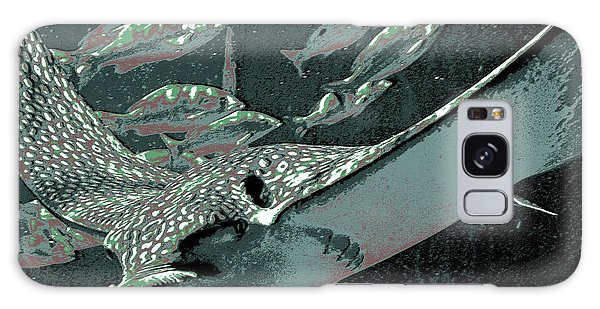 Bahamas Galaxy Case - Spotted Eagle Ray by DigiArt Diaries by Vicky B Fuller