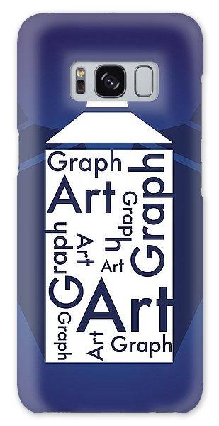 Graph Art Spray Can Galaxy Case by Sheila Mcdonald