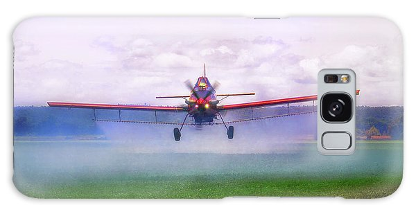 Galaxy Case featuring the photograph Spraying The Fields - Crop Duster - Aviation by Jason Politte