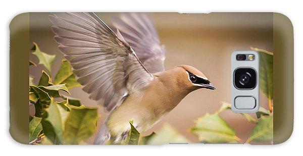 Cedar Waxing Galaxy S8 Case - Spread Your Wings Cedar Waxwing  by Terry DeLuco