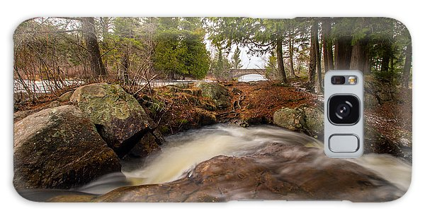 Spring At Bog River Falls Galaxy Case