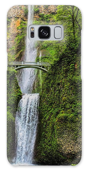 Spring At Multnomah Falls Galaxy Case