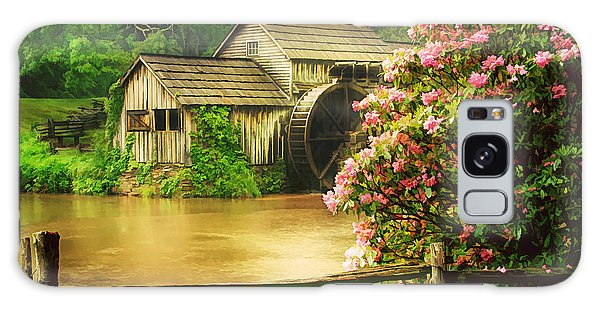 Spring At The Mill Galaxy Case