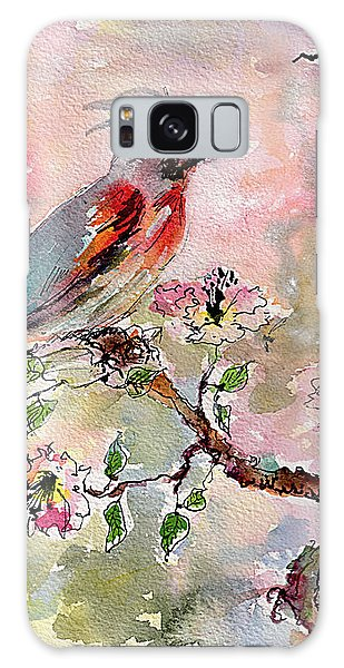 Spring Bird Fantasy Watercolor  Galaxy Case