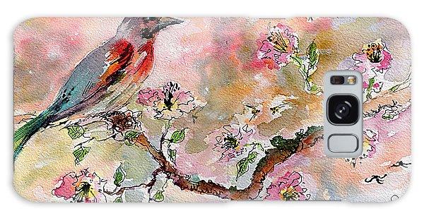Spring Bird Fantasy Watercolor  Galaxy Case