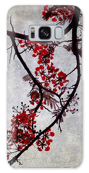 Spring Bloosom In Maldives. Flamboyant Tree II. Japanese Style Galaxy Case